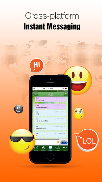 iTel Mobile Dialer: VoIP SIP Calls, SMS, IM for iOS image