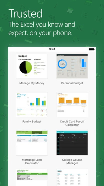Microsoft Excel for iOS image