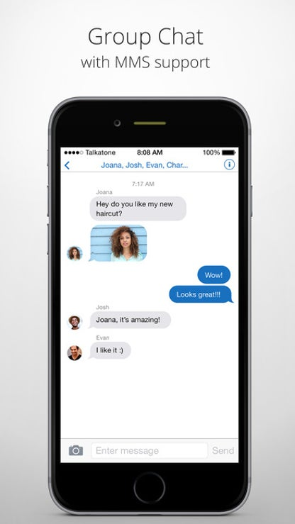 Talkatone: Unlimited SMS Texting & Calls With WiFi for iOS image