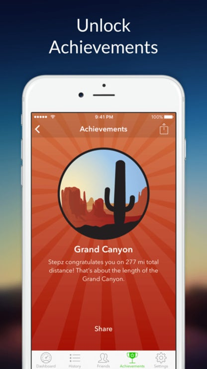 Stepz: Pedometer & Step Counter for Tracking Steps for iOS image