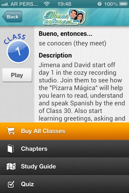 Learn Spanish Levels I & II with Bueno, entonces... for iOS image
