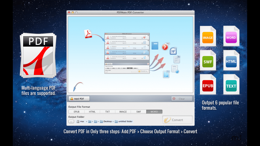 PDFMate PDF Converter for Mac - review, screenshots