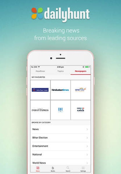 Dailyhunt (Formerly NewsHunt) for iOS image