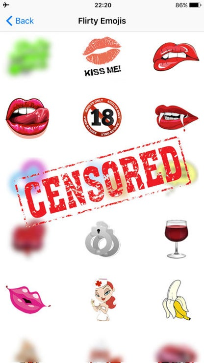 Flirty Emoji Adult Icons Dirty Emoticons for Text for iOS image