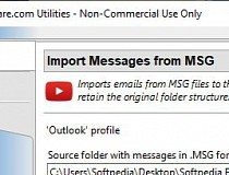 Import Messages from MSG Format Screenshot