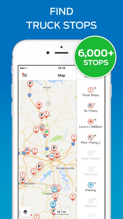Trucker Path - Truck Stops & Weigh Stations for iOS image