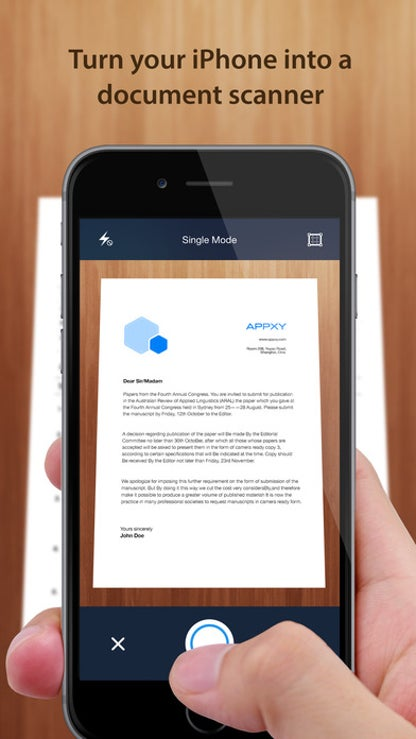Tiny Scanner - PDF scanner to scan document, receipt & fax for iOS image