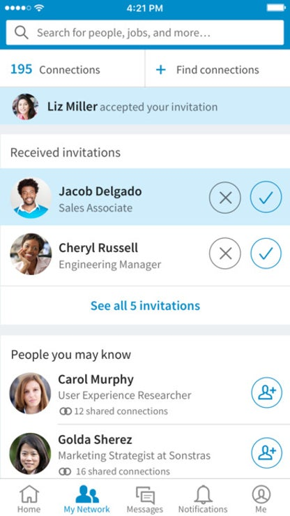 LinkedIn for iOS image