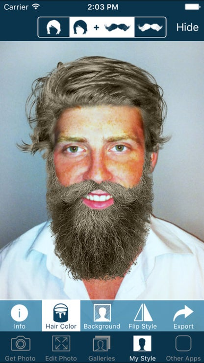 Hair and Beard Styles - Try On Men's Hairstyles for iOS image