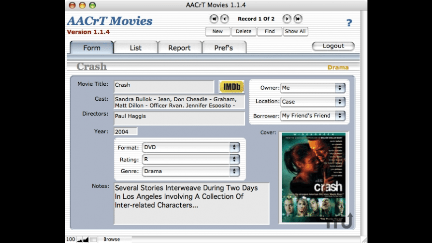 AACrT Movies for Mac - review, screenshots