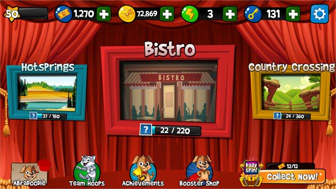 Many bingo locations and features!