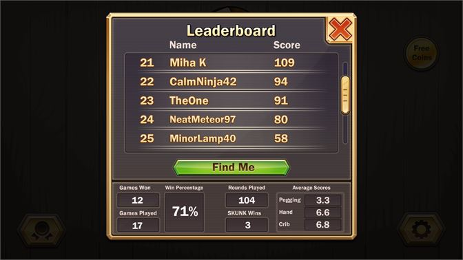 Compete for the high score on the global leaderboards.