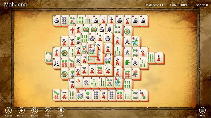 Play a collection of Mahjong solitaire games