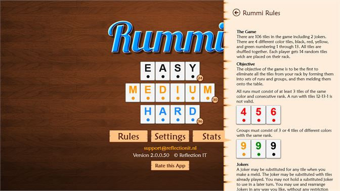 Our Rummi rules are fully explained.