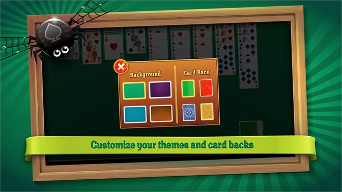 Customize your themes and card backs.