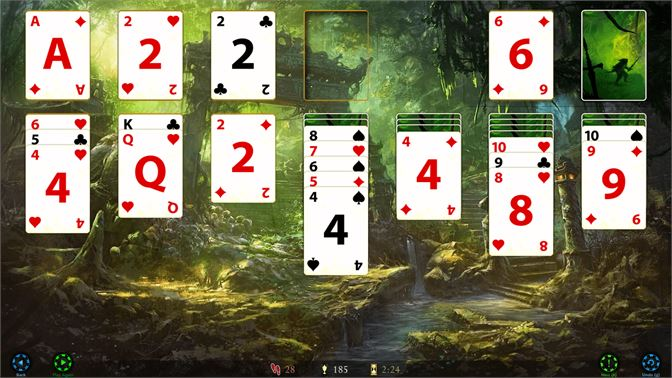Play Solitaire in a beautiful board