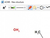 Chemistry Add-in for Word Screenshot
