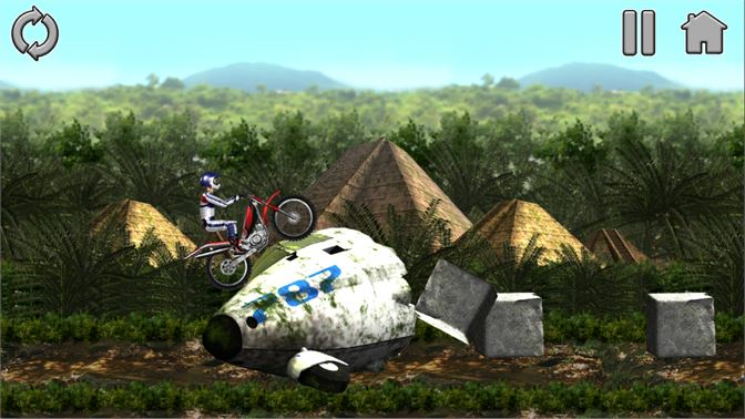 Use the Brand New Bike Mania Engine to pass the levels