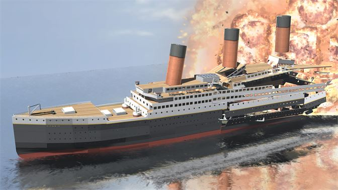 Sail the Titanic, hit the iceberg, sink it! With buoyancy physics!