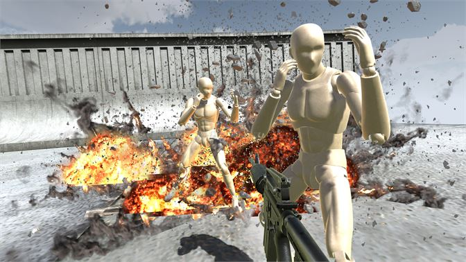Fight evil mannequins with full active rag doll physics!