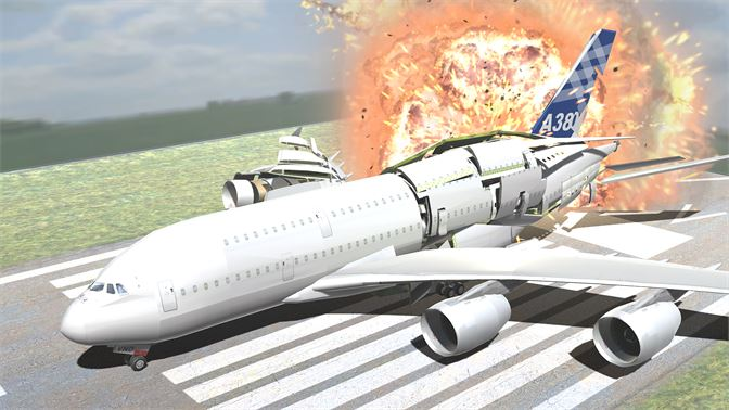 Fly and crash it! A380 airliner with working flaps, spoilers & fully furnished interior!