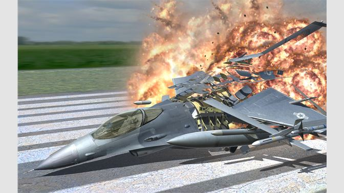 Be an ace pilot in this F-16 jet! Fly and fire guns & missiles, with retractable landing gear!