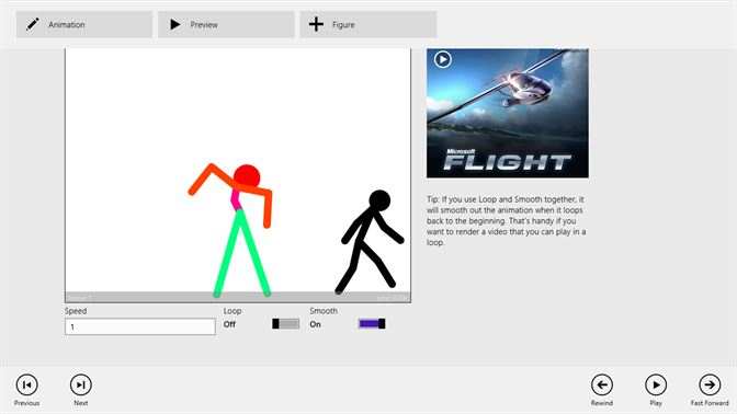 Preview the animation and experiment with the playback settings.