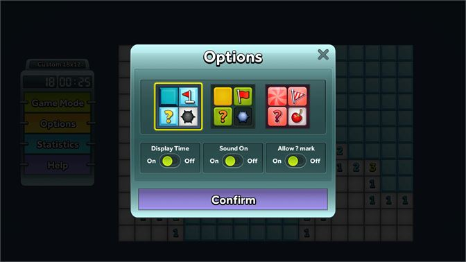Choose your own theme and adjust game settings.