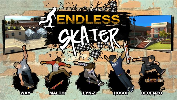Endless running meets arcade gameplay in this addictive new skateboarding game!