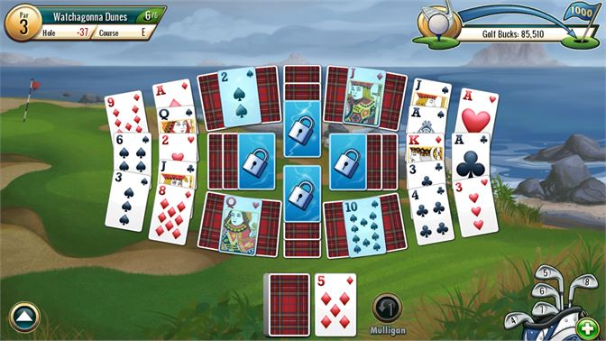 Watch out for water, wedge, and rough cards that test your skills