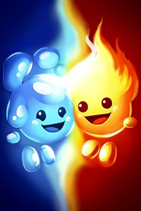 Fire and Ice - Pair Maze Runner, Escape the labyrinth, avoid obstacles, running quest with little heroes Free +