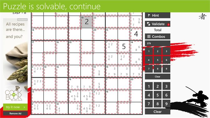 Validate the puzzles or use Hints when you are stuck.