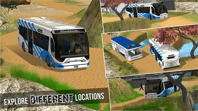Police Bus Offroad Driver - Hill Climb Transport