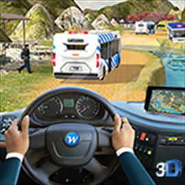 Police Bus Offroad Driver - Hill Climb Transport Free +