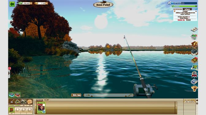 Catch bass, muskie and other fish at Lake Coho in North America