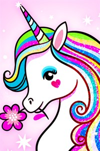 Unicorn Coloring Book - Adult Coloring Book Free +
