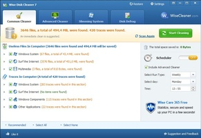 Wise Disk Cleaner Portable screenshot 4
