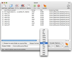 Switch Free Audio and MP3 Converter for Mac screenshot 3