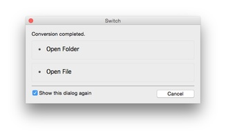 Switch Free Audio and MP3 Converter for Mac screenshot 7