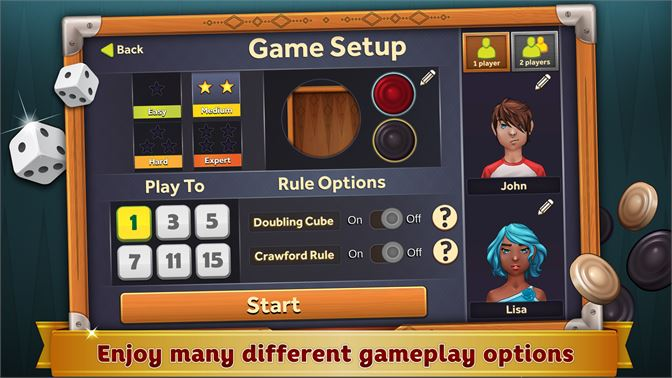 Enjoy many different gameplay options.