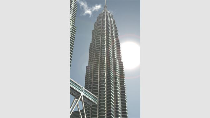 The Petronas Towers in Malaysia, one of the tallest buildings in the world!