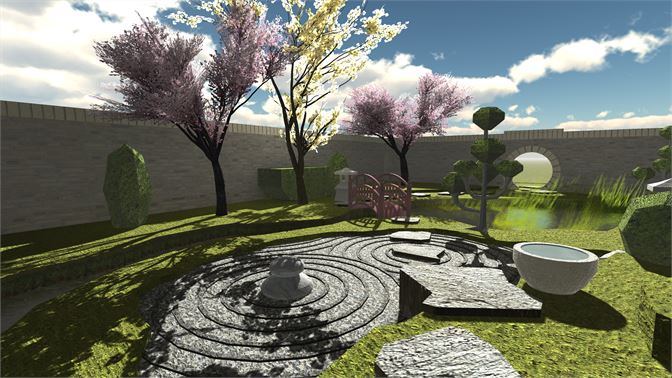 Meditate and relax in this Japanese zen garden!