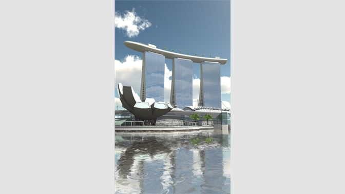 Marina Bay Sands in Singapore, with a rooftop swimming pool!
