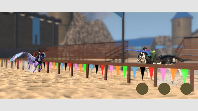 Compete in 8 event types including Jousting!