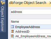 dbForge Search for SQL Server Screenshot