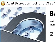 Avast Decryption Tool for CrySiS Ransomware Screenshot